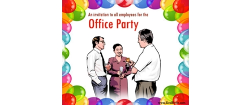 An invitation to all empolyee for this Office Party
