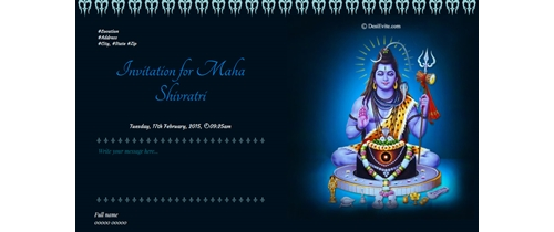 Invitation for Maha Shivratri