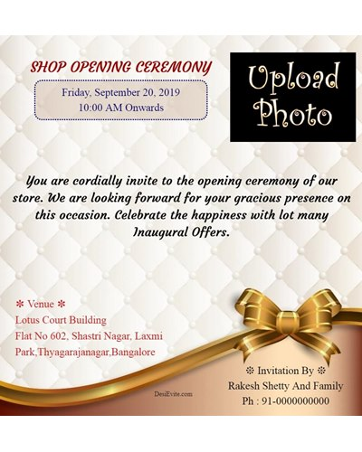 Office/Shop Inauguration Ceremony