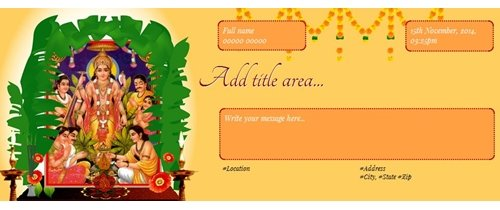 Free satyanarayan puja invitation card online invitations invitation to sri satyanarayana swamy pooja stopboris Gallery