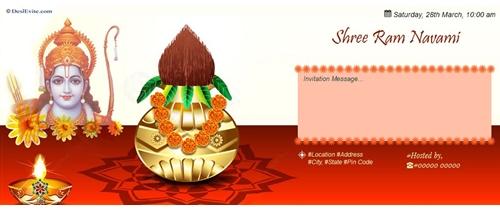 Shri Ram Navami invitation