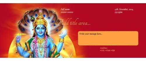 Free Satyanarayan Puja Invitation Card Online Invitations