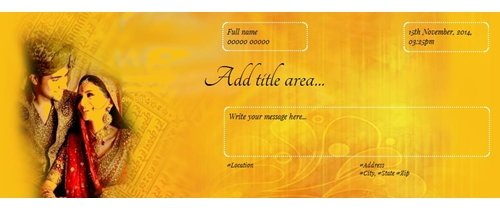 Wedding Invitation Theme smiling bride groom