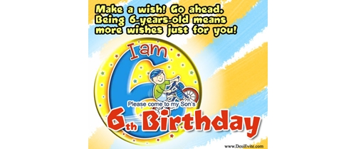 Make a wish go ahead being 6 year old means more wishes