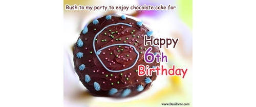 Ruch to my party to enjoy chocolats and cake for 6th Birthday