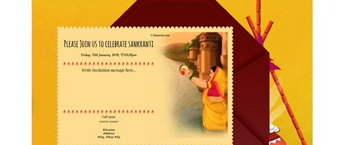 Invite you all my friends to celebrate Sankranti with kites