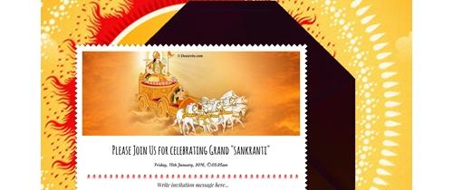 Free Makar Sankranti Haldi Kumkum Invitation Card Online