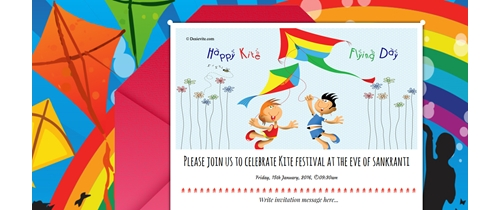 Let's play with kites at the eve of Sankranti