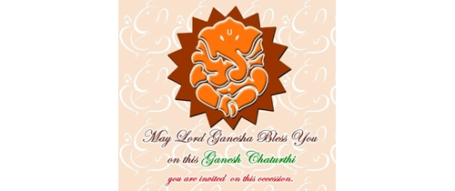 You are invited on this occessin of Ganesh Chaturthi