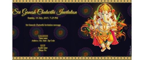 Shree Ganesh Chaturthi Invitation