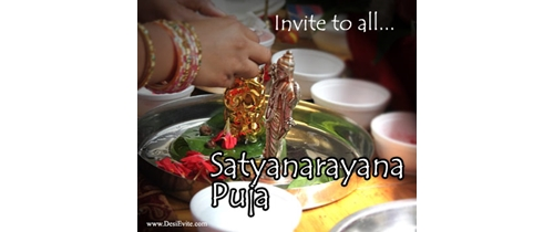 Invite to all Sri Satyanarayan Puja Invitation