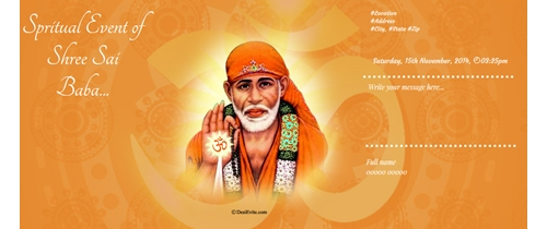Spiritual event of Sai Baba