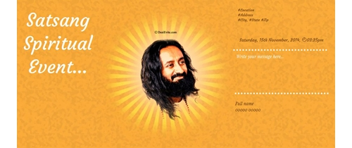 Satsang Event of Shree Ravi Shankar Ji