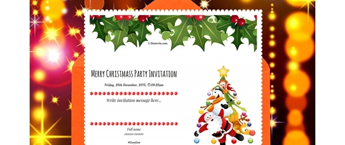 Invite you and your family on this Christmas party