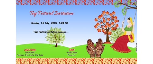 Teej Festival Invitation