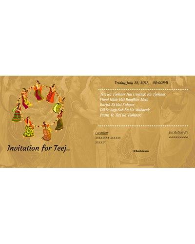 Invitation for Teej