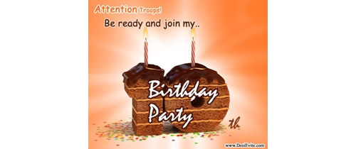Be ready to join my 10th Birthday party