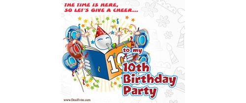 Let's give cheer to my 10th Birthday