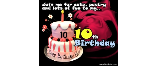 join me on 10th Birthday