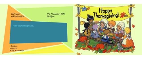 It's Thanksgiving dinner time pleae join us