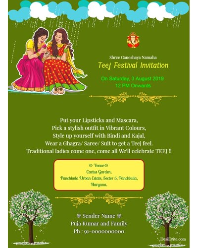 traditional-teej-invitation-card