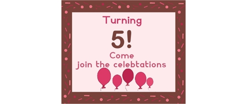 Turning 5 join the party