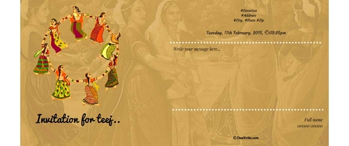 Invitation for Teej