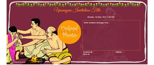 Janeu/Upnayan Sanskar /Poonal Invitation card