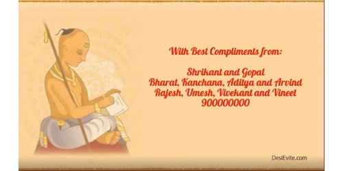 Free Janeu Upnayan Sanskar Invitation Card Online Invitations
