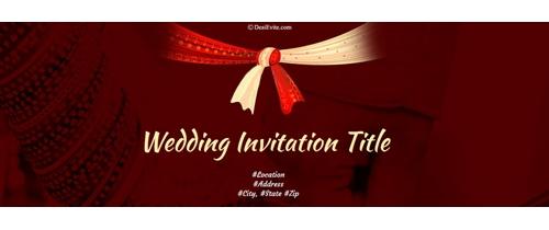 Auspicious occasion of Happy Wedding Invitation