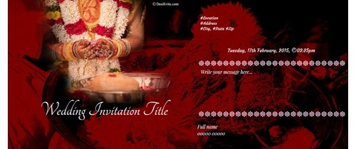 Invitation for our wedding ceremony Happy Wedding Invitation