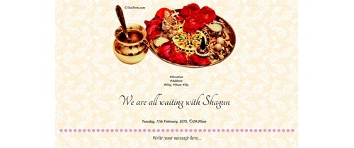 Please come and enjoy our marriage ceremony Wedding Invitation