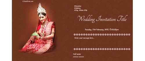 Invite you all to my marriage ceremony Happy Wedding
