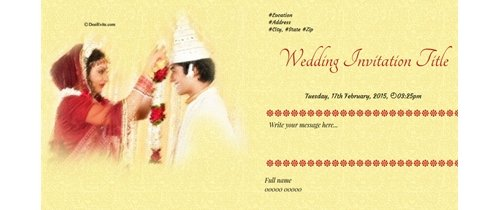 All are invited to our marriage ceremony Happy Wedding