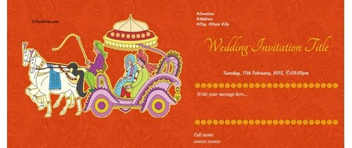 Wedding Invitation Theme Invitation with envelope