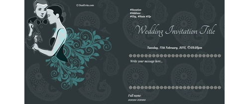 Wedding Invitation Theme heart shape design background