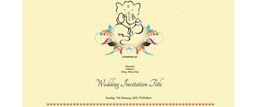 Ganesha Wedding Invitation