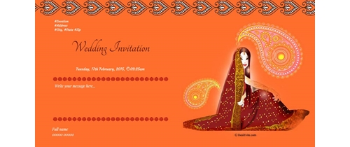 Marriage ceremony On the occasion of Marriage you are invited