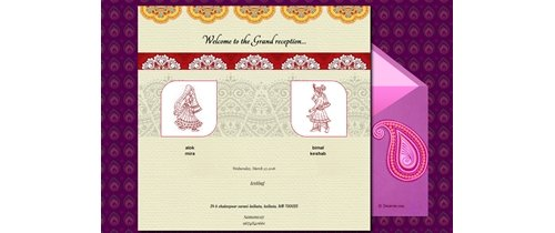 Grand Wedding Invitation