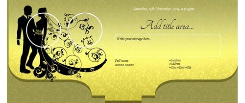 Wedding Ceremony Invitation Theme couple in black