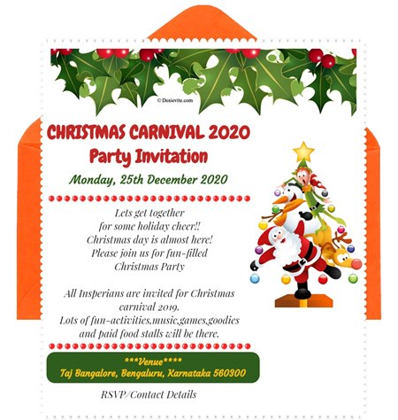 CHRISTMAS-CARNIVAL-Party-Invitation