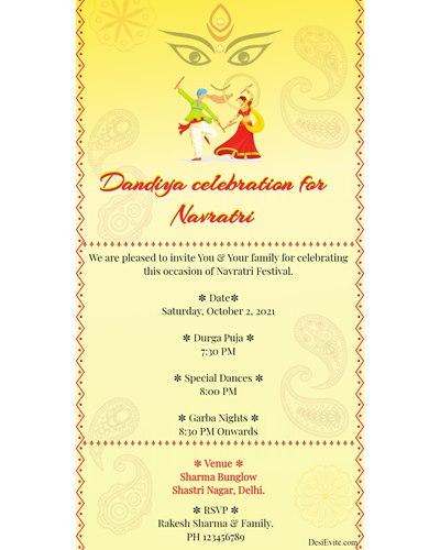 Dandiya celebration for Navratri