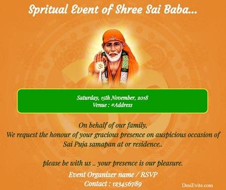 Spiritual event of Sai Baba