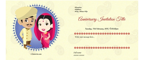 Congratulations for your anniversary