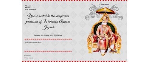 Happy Maharaja Agrasen Jayanti, 2015