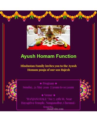 Ayusha Homam