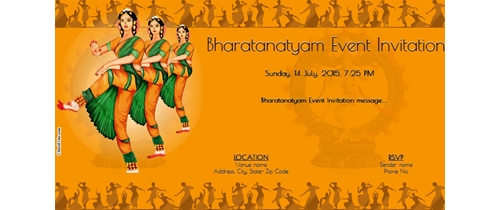 Bharatanatyam/Salangai Poojai Invitation