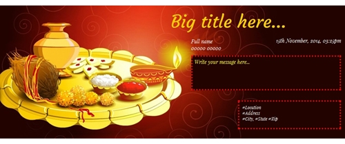 Bhai Dooj Invitation