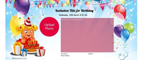High Resolution Birthday Invitation card