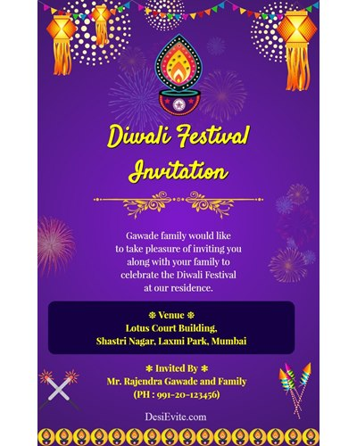 diwali-invitation-card-with-panti-and-kandil